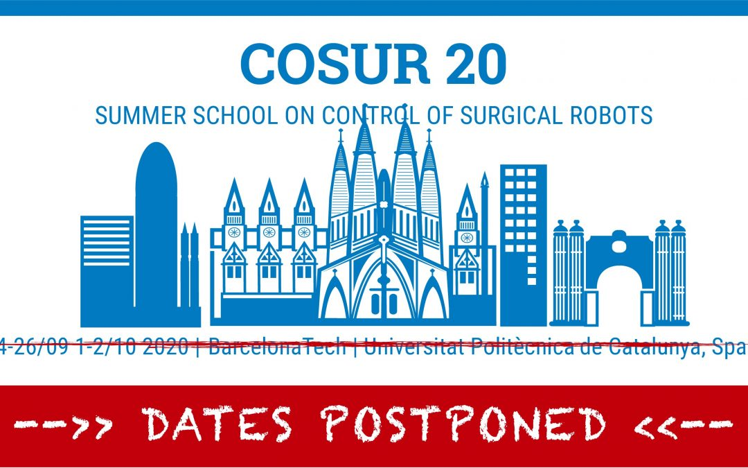 COSUR 2020 – Dates Postponed